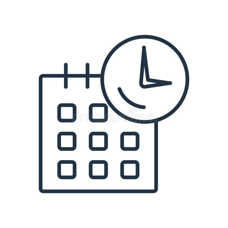 Calendar вектор значка изолированный на белой предпосылке, знаке календаря бесплатная иллюстрация