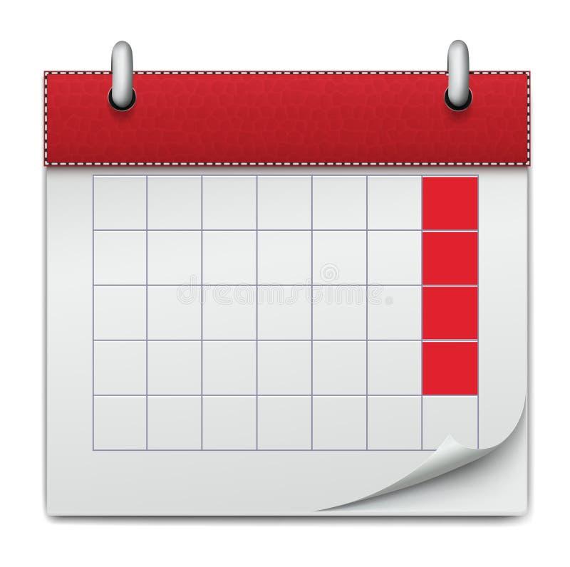Calendar дело тетради значка планирования, conce иллюстрация вектора