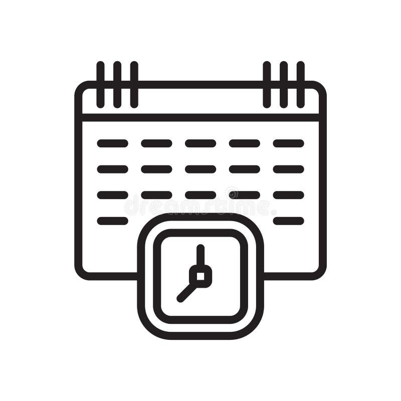 Calendar знак и символ вектора значка изолированные на белой предпосылке, концепции логотипа календаря иллюстрация вектора