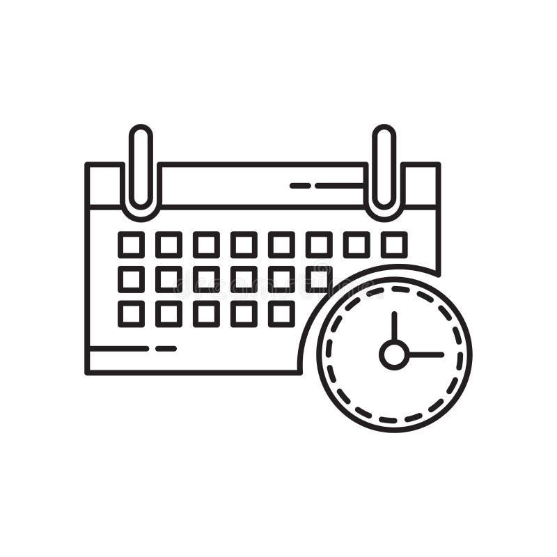 Calendar знак и символ вектора значка изолированные на белой предпосылке, концепции логотипа календаря бесплатная иллюстрация