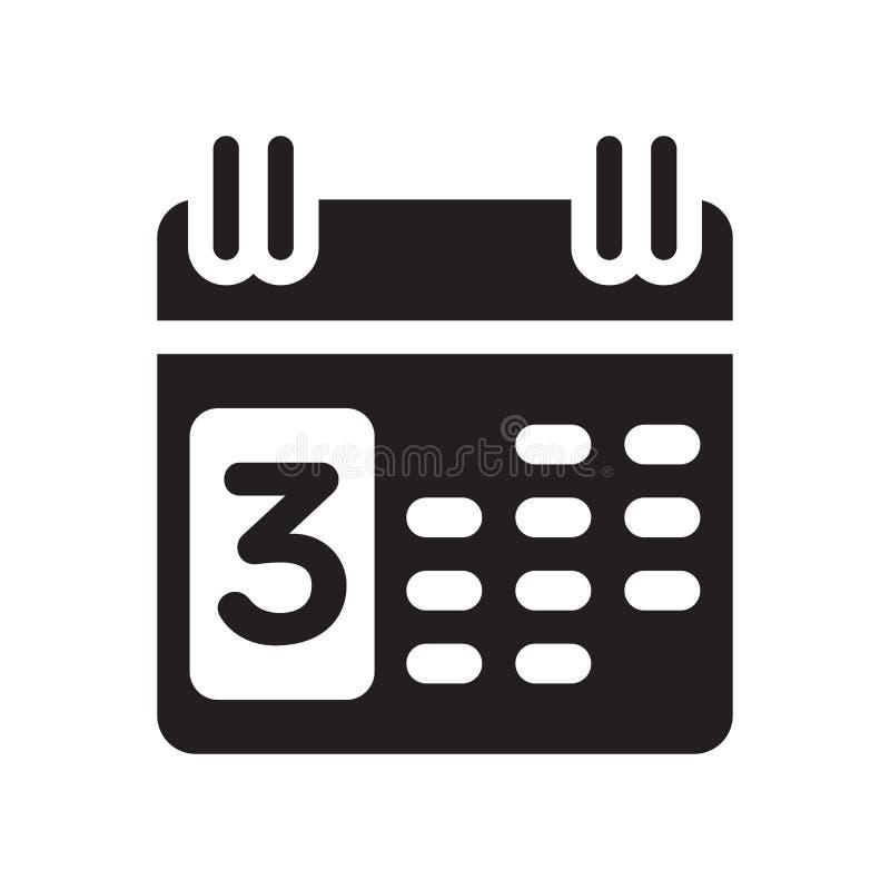 Calendar знак и символ вектора значка изолированные на белом backgroun иллюстрация вектора