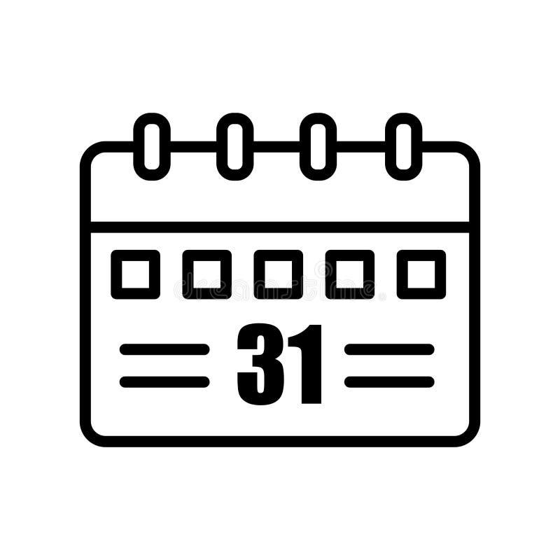 Calendar знак и символ вектора значка изолированные на белом backgroun бесплатная иллюстрация