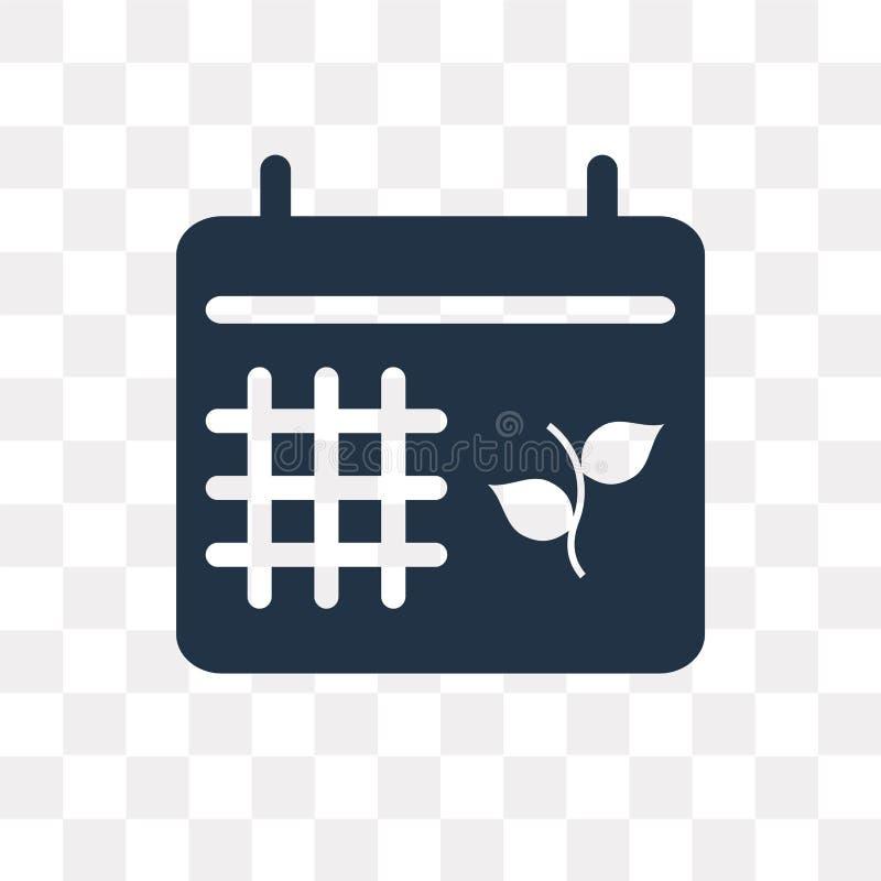 Calendar значок вектора изолированный на прозрачной предпосылке, Calenda иллюстрация вектора