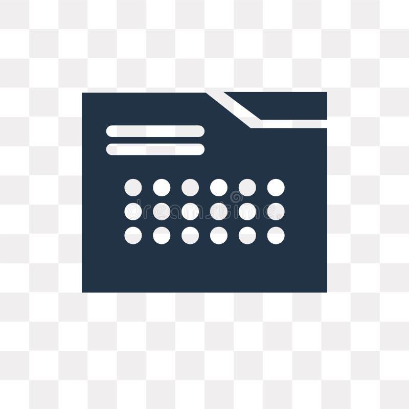Calendar значок вектора изолированный на прозрачной предпосылке, Calenda иллюстрация штока