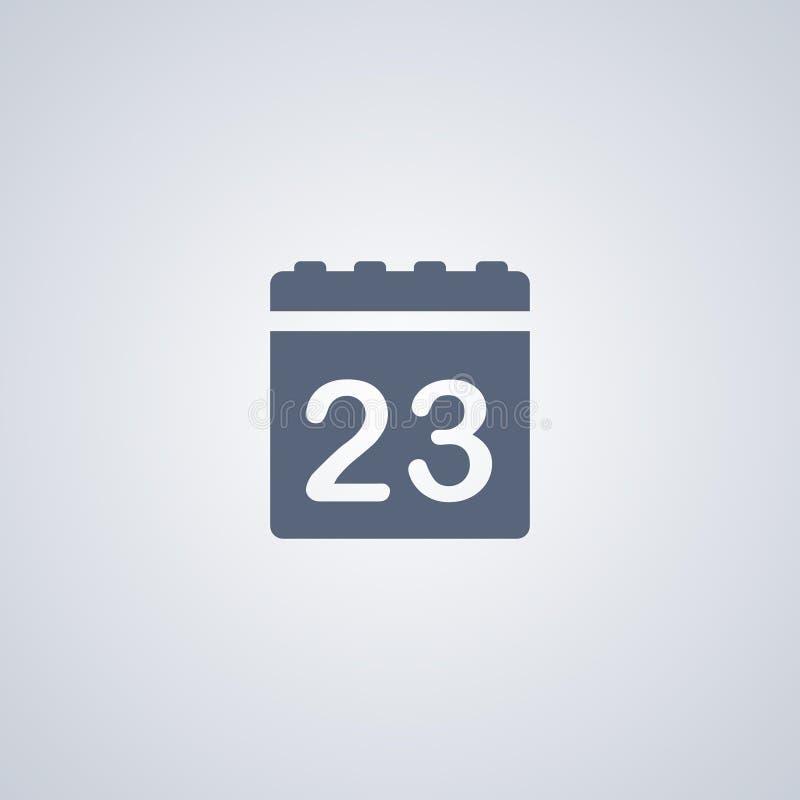 Calendar значок, данные, vector самый лучший плоский значок иллюстрация штока