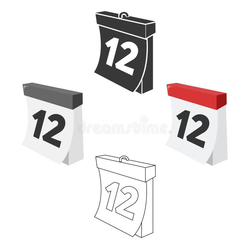 Calendar значок иллюстрации вектора для сети и черни бесплатная иллюстрация