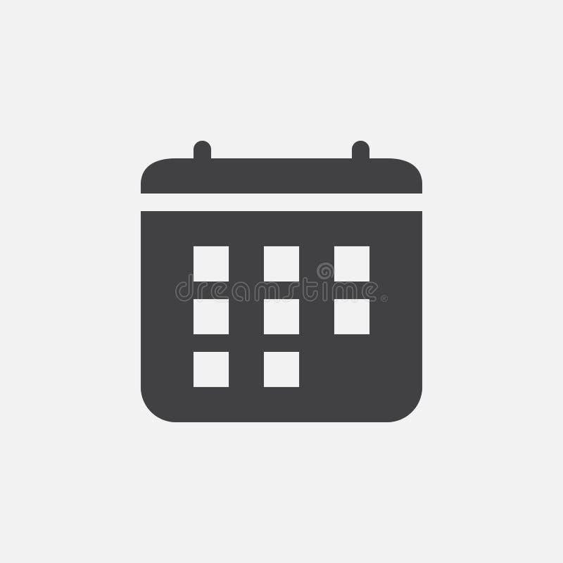 Calendar значок, иллюстрация логотипа вектора, пиктограмма изолированная на белизне иллюстрация штока