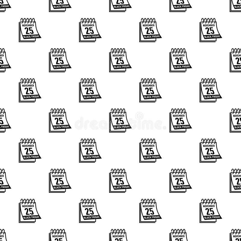 Calendar значок пятницы черноты двадцать пятом -го в ноябре иллюстрация штока