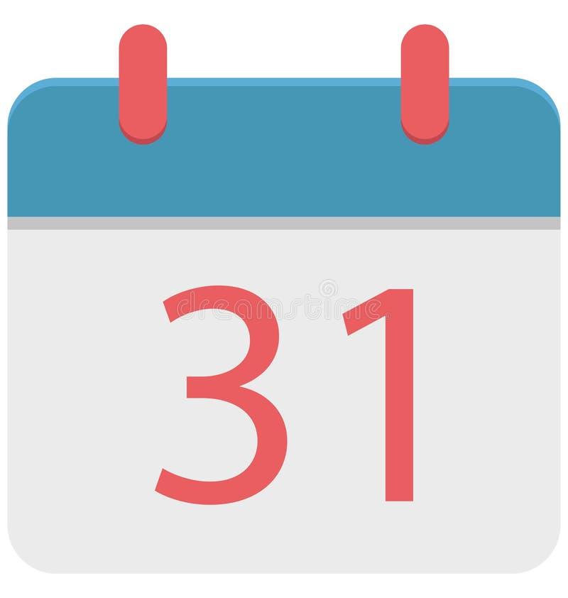 Calendar изолированная польза значка иллюстрации цвета специальная на хеллоуин бесплатная иллюстрация