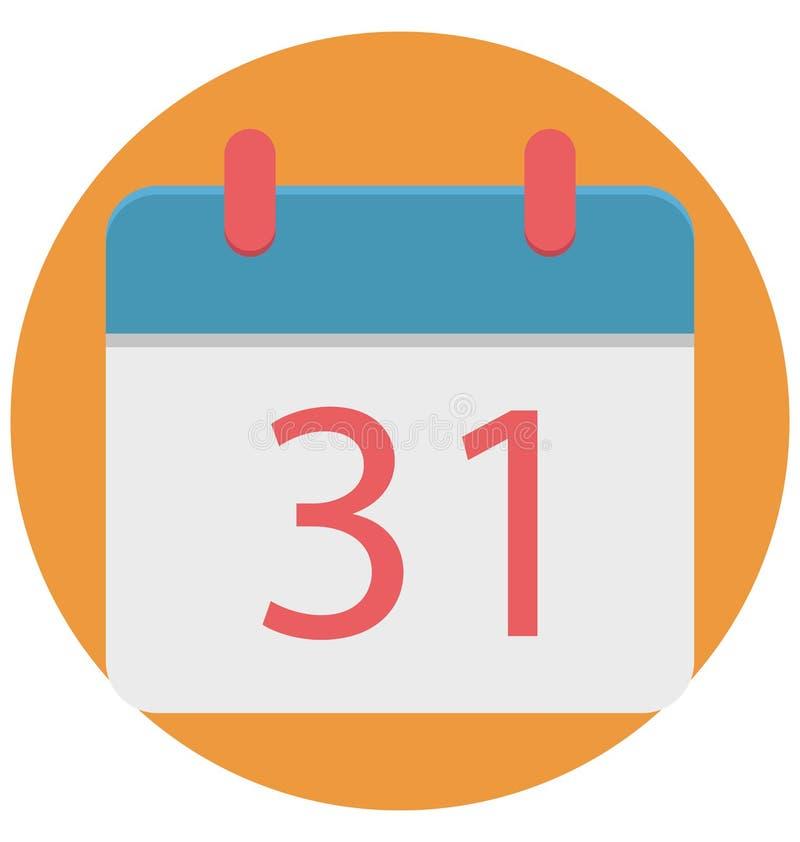 Calendar изолированная польза значка иллюстрации цвета специальная на хеллоуин иллюстрация вектора