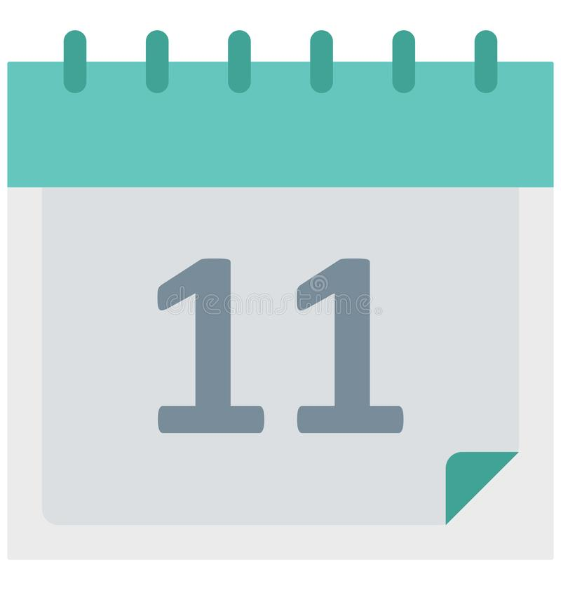 Calendar изолированный значок вектора который может быть легко редактирует или доработал бесплатная иллюстрация