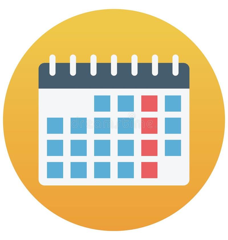 Calendar изолированный значок вектора который может быть легко редактирует или доработал иллюстрация вектора