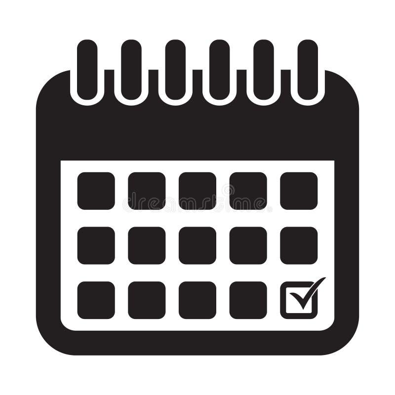 calendar икона Календарь на стене также вектор иллюстрации притяжки corel иллюстрация вектора