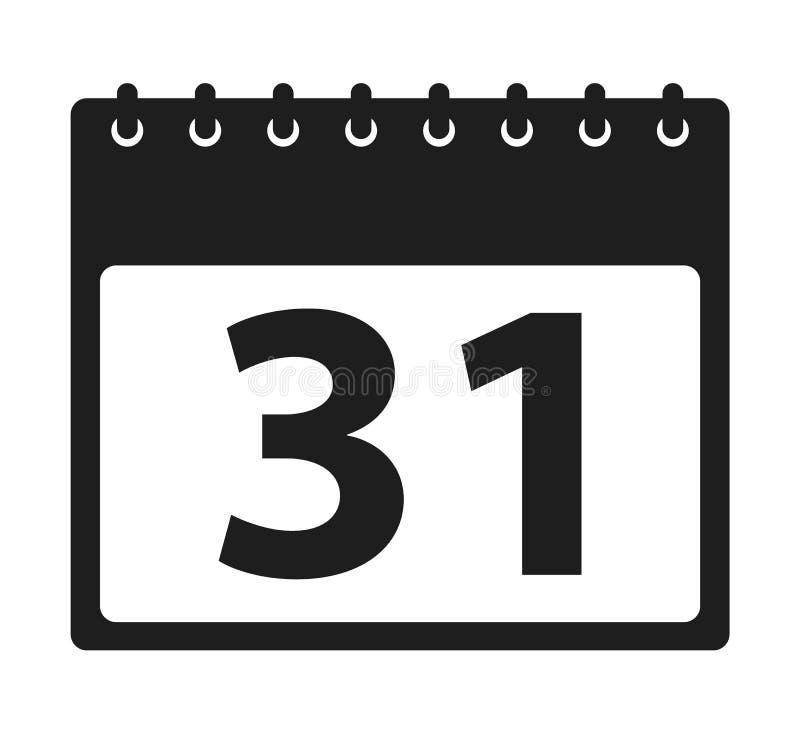 calendar икона Плоский вектор стиля бесплатная иллюстрация