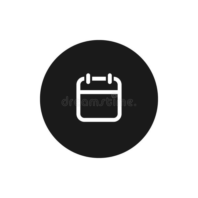 calendar икона Символ вектора изолированный на белой предпосылке иллюстрация штока