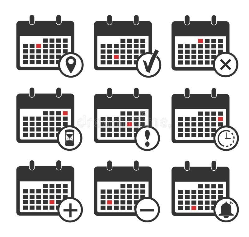 calendar икона установленные иконы календара планировать иллюстрация штока