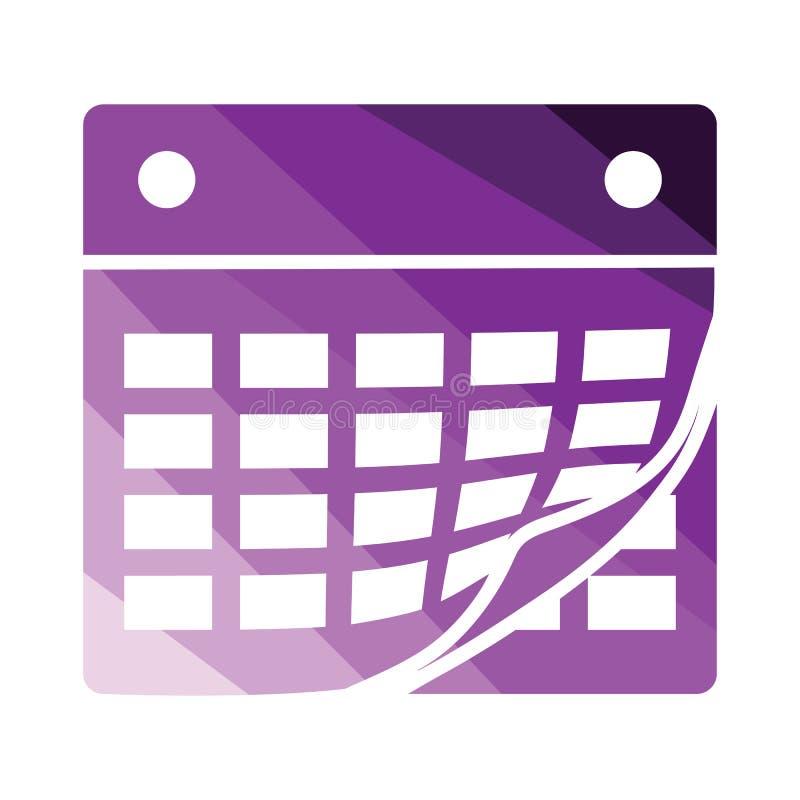 calendar икона иллюстрация вектора