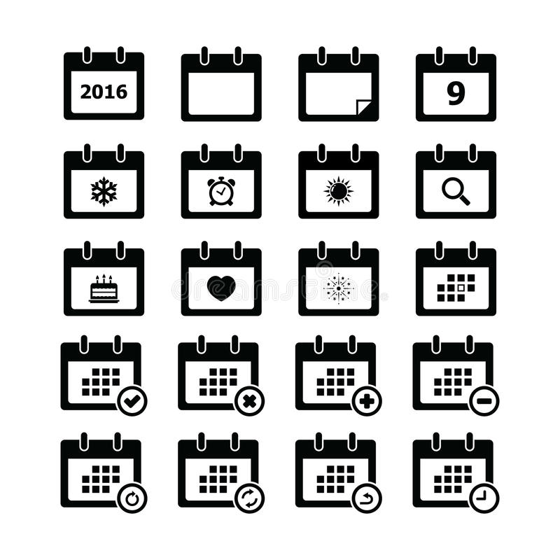 calendar икона иллюстрация штока