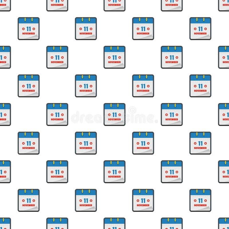 Calendar картина одиннадцатом -го в ноябре безшовная иллюстрация вектора