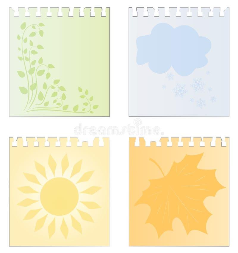 calendar сезоны листьев изображения бесплатная иллюстрация