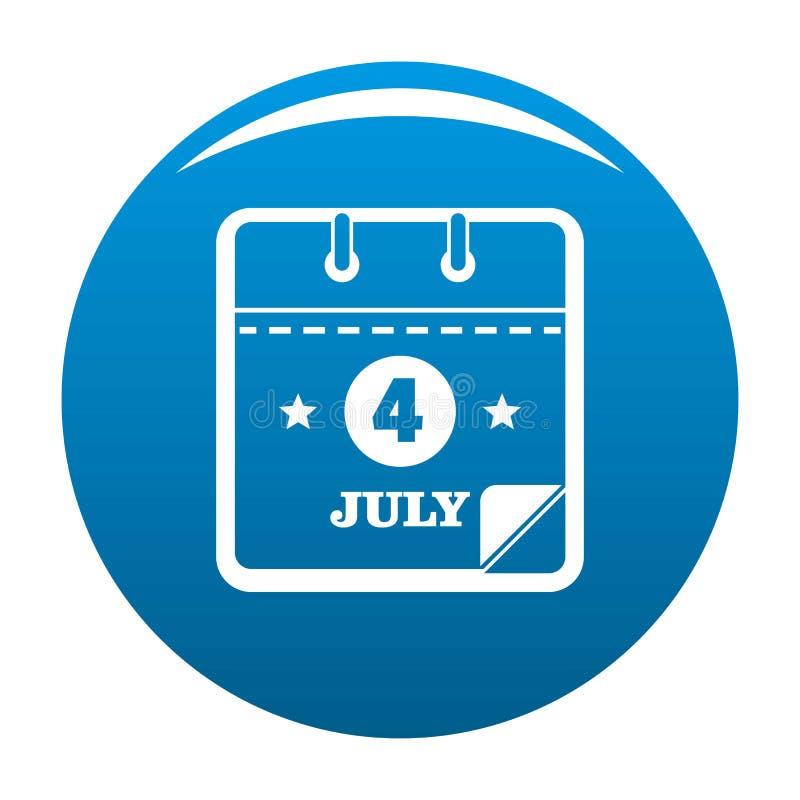 Calendar синь значка четвертом -го в июле иллюстрация штока