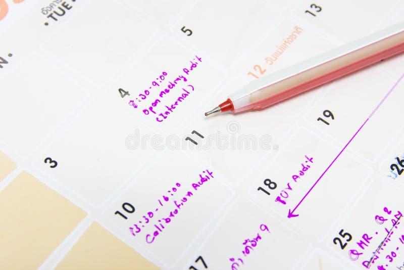 Calendar страница стоковые фотографии rf