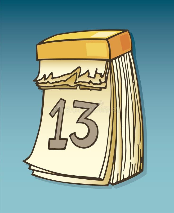 calendar тринадцатое иллюстрация вектора