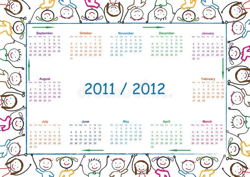calendar школа бесплатная иллюстрация