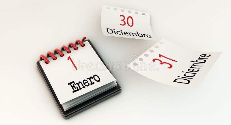 Calendar 1-ое января в 3d бесплатная иллюстрация