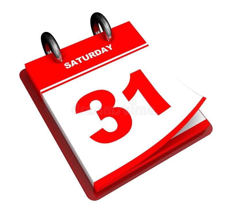 Calendar. 3d illustration of generic calendar isolated over white background royalty free illustration