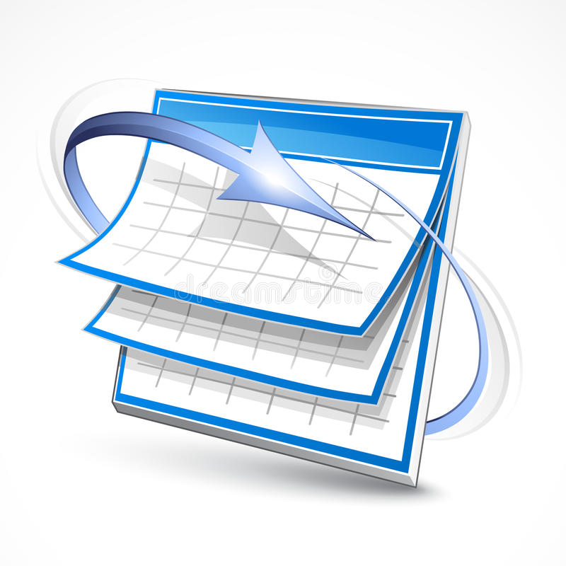 Download Calendar stock vector. Illustration of schedule, drawing - 17966805