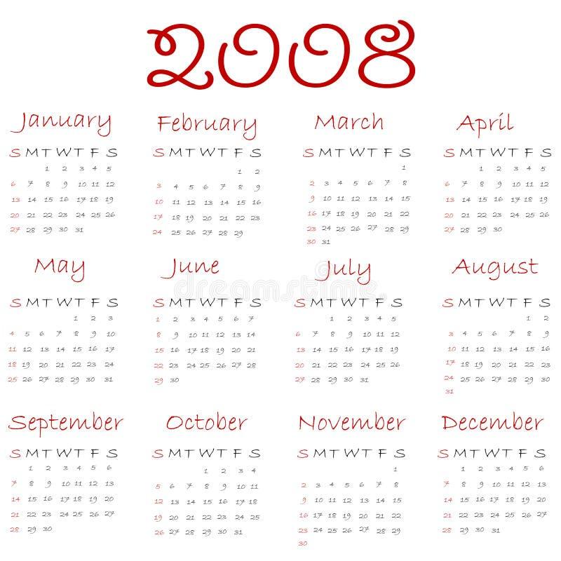 Download Calendar 2008 Stock Photography - Image: 3326012