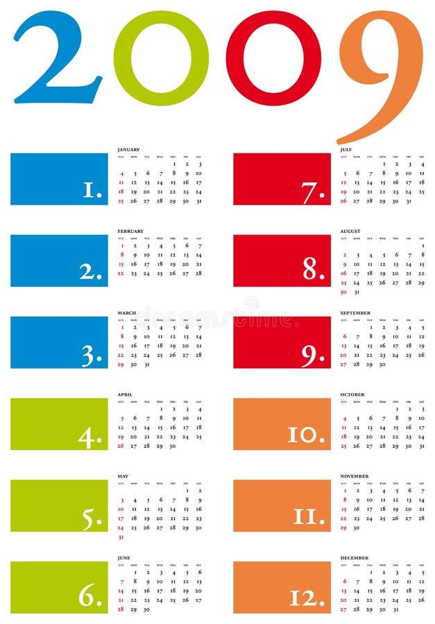 Calendar 2009 vector illustration