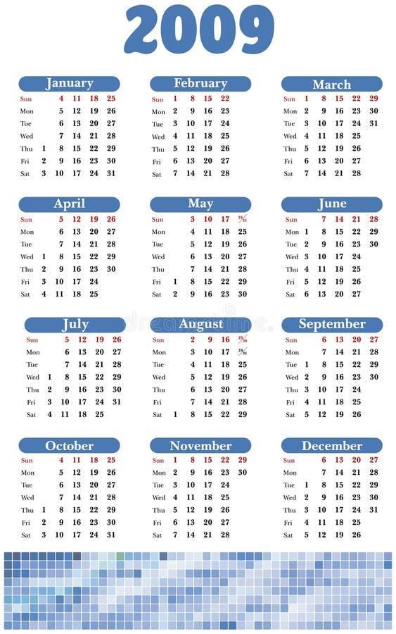 Calendar 2009 royalty free stock photo