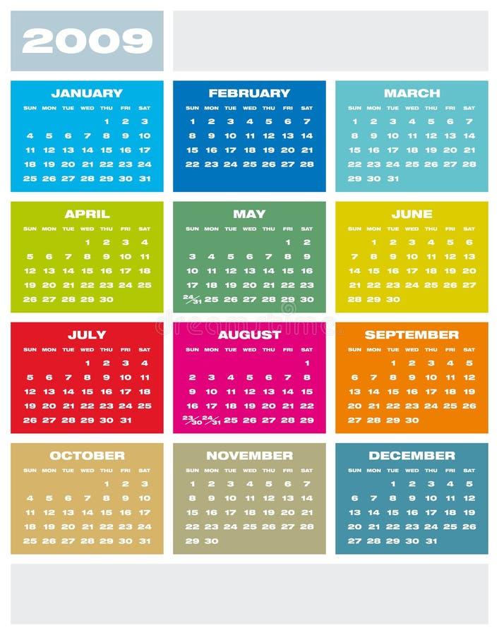 Calendar 2009. royalty free illustration