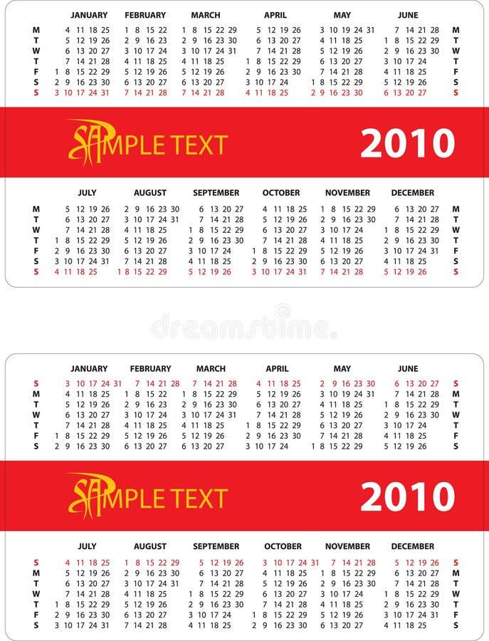 October 2010 Calendar stock illustration. Illustration of colorful - 8508774