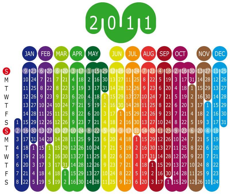 Calendar_2011 stock illustratie