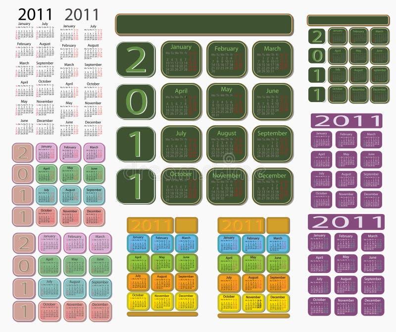 Calendar 2011 royalty free stock image