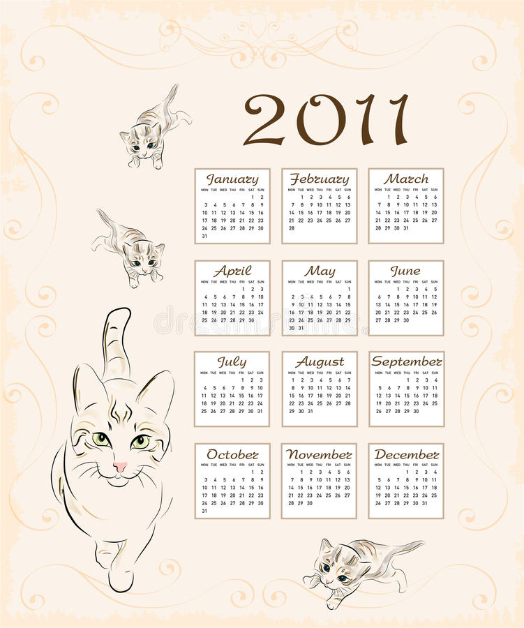 Download Calendar 2011 Royalty Free Stock Photography - Image: 16953867