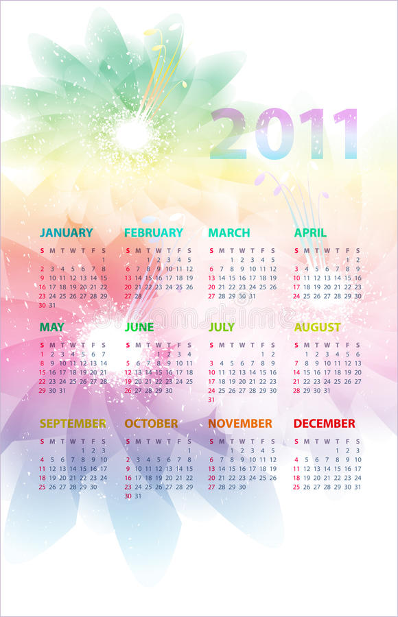 Download Calendar Of 2011. Royalty Free Stock Photos - Image: 17243478