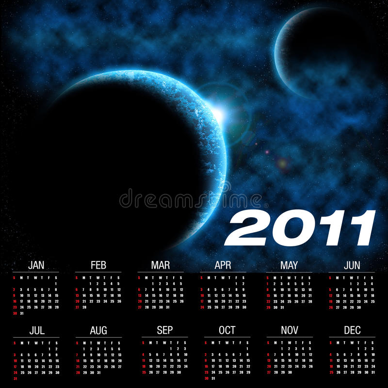 Download Calendar for 2011 stock illustration. Image of abstract - 17605615
