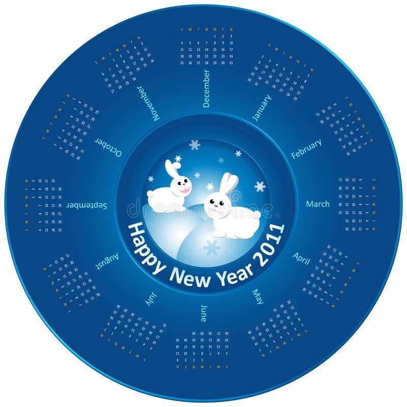 Calendar 2011 - Rabbit stock image