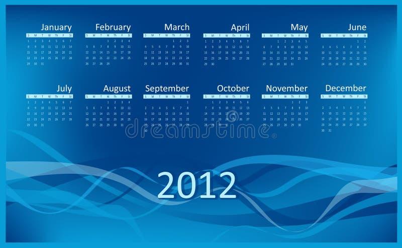 Download Calendar for 2012 stock illustration. Image of journal - 18484080