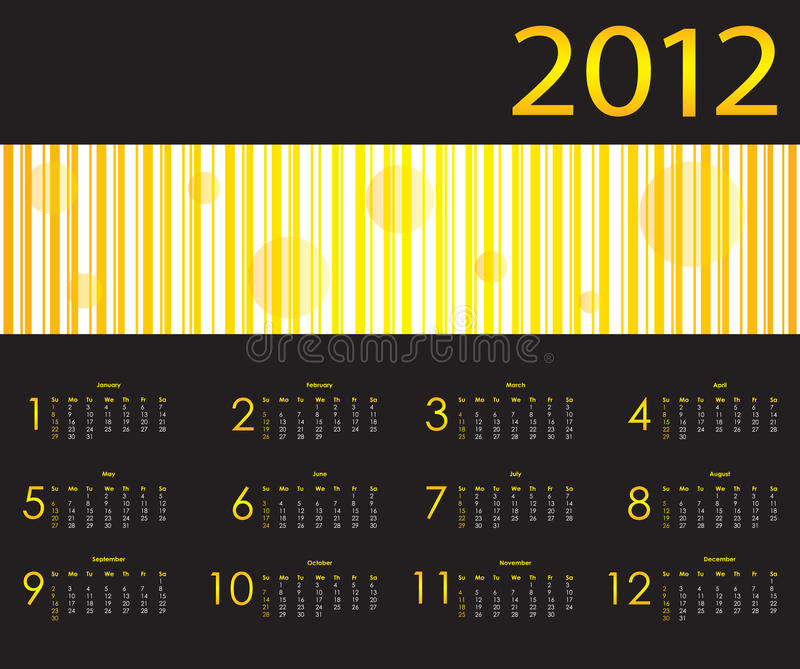 Download Calendar for 2012 stock vector. Image of diary, november - 21671039