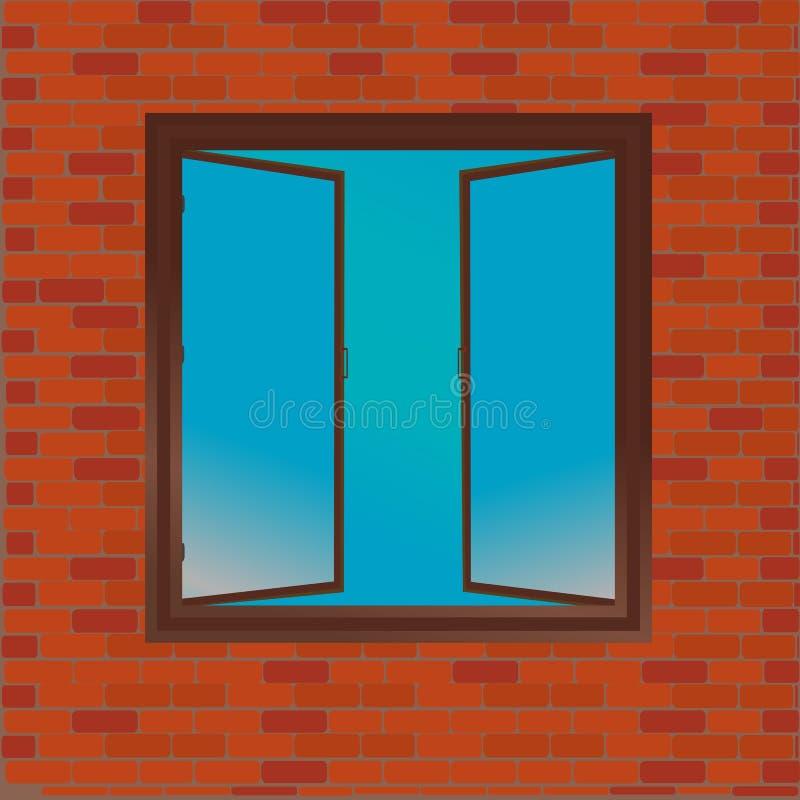 Download Window stock illustration. Illustration of blue, brown - 22877808
