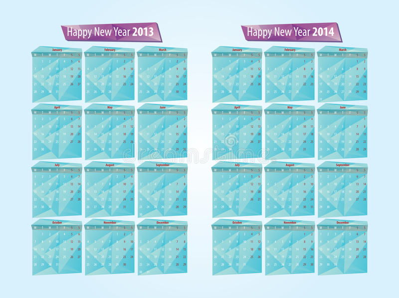 Download Calendar 2013, 2014 stock illustration. Image of date - 27707253