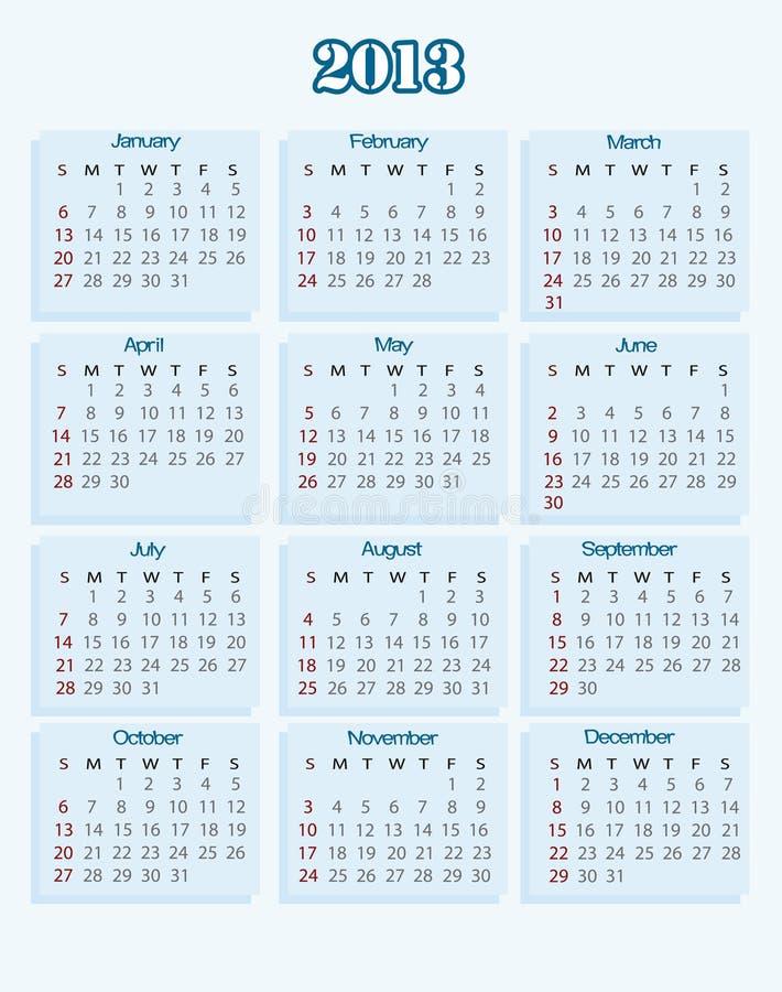 Free Calendar 2013 Stock Photos - 25498183