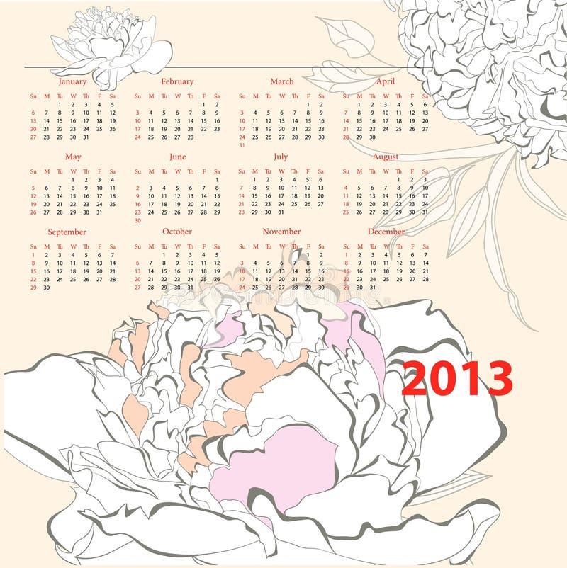 Download Calendar for 2013 stock vector. Image of template, almanac - 26003494