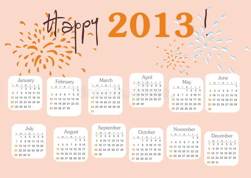 Calendar 2013 royalty free stock image