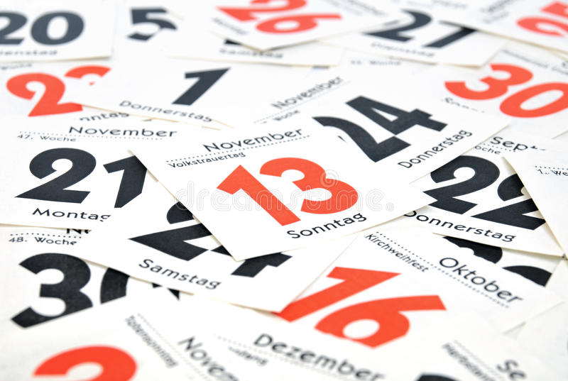 Download Calendar stock image. Image of thursday, planner, weekdays - 22353619